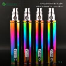 popular mechanical mod e cig GS EGO Series eGo II 2200mah rainbow Battery big battery e cigarette mod