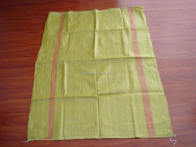 recycled material yellow pp woven bag for korea market 100*125cm 130g