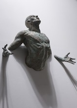 Creative freedom man metal wall sculpture for sale