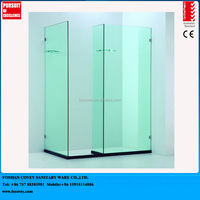 new walk in frameless shower enclosure with glass self