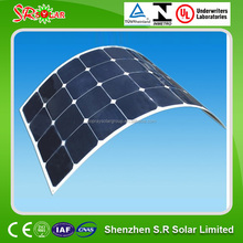 2015 hot sale high efficiency sunpower semi flexible s solar panel