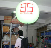 China wholesale moving advertising lighting balloons custom printing