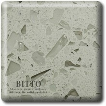 sparkle quartz stone countertop finished with Bitto industry technics