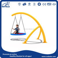 2015 New Product Children Round Swing Playground Equipment Luxury Baby Swing Kids Single Swing