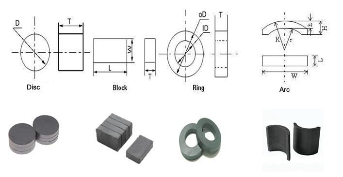 Wholesale Promotional Hard Permanent Ring Ferrite Magnet