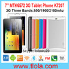 Cheap 3G Tablet PC Android 512RAM 4GB HDD 7 Inch 1024*600 HD Capacitive Touch Screen