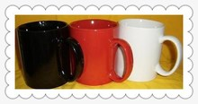 plain white ceramic mug and cup