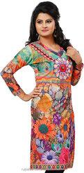 Long India Tunic Top Womens Kurti Digital Printed Blouse /Multiple Styles & colors /women kurti tops