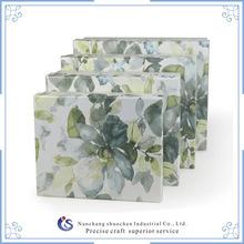 flower pattern lid kraft paper gift boxes / kraft paper gift box