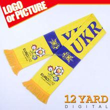 Soccer fans scarf& words digital printed polyester shawls