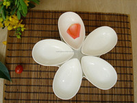 New style porcelain porcelain flower shaped wooden bowl dish set