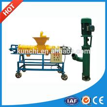 Profesional en vivo stock estiércol / estiércol máquina de deshidratación / separador de líquido sólido