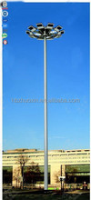 Outdoor decorative hot dipped galvanized steel street lighting columns
