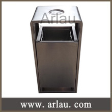 Arlau BS214 outdoor indoor stainless steel ashtray recycle bin waste bin