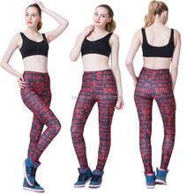 Women's Lady Cotton Spandex Yoga Workout Fold Over Waist Leggings
