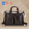 wholesale men's leather tote shoulder bag for ipad&leather passport bag