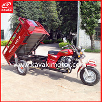 GZ China Wuyang Classic Motor Model Red Color With Big Fuel Tank 3 Wheels Tri Cycle
