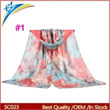 Ladies Scarf Fashion Flower Scarves Shawls 100% viscose Muslim Hijab 180*90cm Pashmina