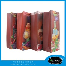 Professional cheap paper wine bottle bag for promotion with CE certificate