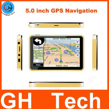 High Speed Accuracy 5 inch GPS Car Navigation 4G memory 8.5 Nativel Map AVIN/ Bluetooth is Optional Support multiple languages