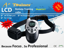 A+Trainer 1000M Rechargeable & Waterproof electric shock dog bark collar,dog training collar