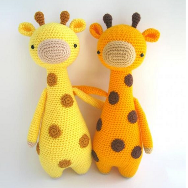 Padr?es Amigurumi. Alto girafa com pontos padrao ittle ...