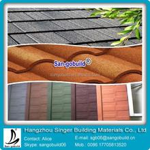 Anti-fingerprint stone coated metal roof tile for 15 colors