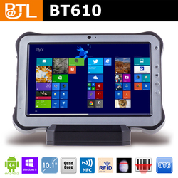 KLQ334 Cruiser BT610 1.33 Ghz-1.86GHz 2MP + 2MP 1280*800 military waterproof with windows 8 tablet 10 inch