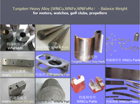tungsten nickel iron material for balance weight