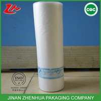 100% virgin material plastic hdpe flat bags on roll for food