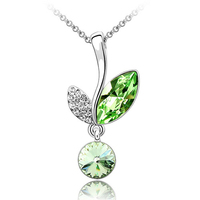 factory directly jewelry floewr necklace made with swarovski element crystal