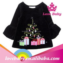 LBE4091314 All black baby clothing wholesale infant clothes