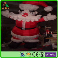 factory price Inflatable christmas santa claus/ inflatable santa