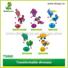 PP changeable dinosaur egg toys,plastic dinosaur