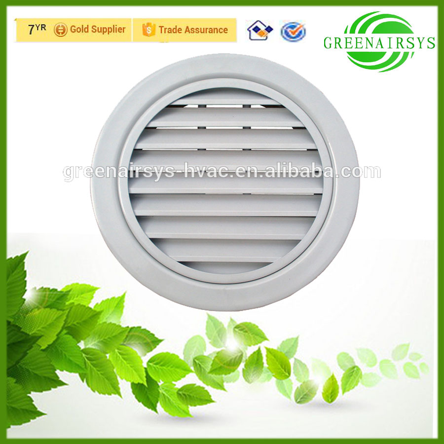 Outdoor Air Conditioner Round Decorative Rain Proof Louvered Air Grille Cover Buy Air