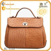 2015 copy brand leather Handbag ostrich leather lady bags