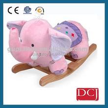 playful plush rocking horse,cute cow baby rocking horse,baby rocker