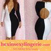 Black and white short celebrity wholesale bandage dress