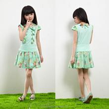 Oem e mais recente de atacado de moda infantil blusa e saia, coreano elegantes modelos de saia e blusa de jogos para crianças