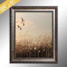 Sunny beautiful scenery painting , happy birds in sky canvas prinitng