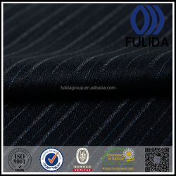 Fashion high quality blue white stripe shiny yarn fabric for business