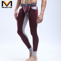 Wholesale China Clothing Man Pant Underwear Manview Brand Male Thermal Pants Sexy Adult Long Johns M09-1