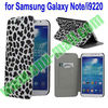 Leopard Pattern Leather Wallet for Samsung Galaxy i9220 Note Leather Case with Card Slot and Stand