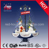 Snowing Christmas Ornamentations with Umbrella Base