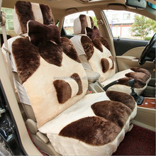 Low With High Wool Sheepskin Car Cushion Cover