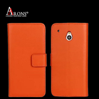 Wholesale genuine leather phone case for htc wallet case