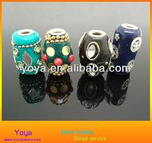 3718 Handmade indonesia beads,indonesia polymer clay drum tube beads