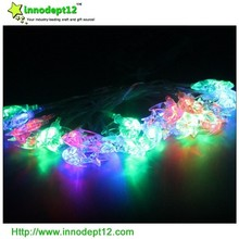 Acrylic moon and star sheet Christmas decoration led twinkle string light