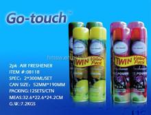 2PK Aerosol Home Room Spray Deodorizer Fresh Fragrance,Magic Air Freshener