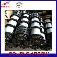 cleaning rubber disc return idler coal conveyor iron roller